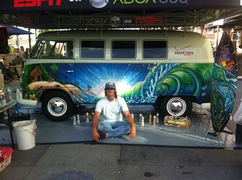 Lumber 84 Live Painting Of A Vintage 1965 Vw Bus At Vans Us Open