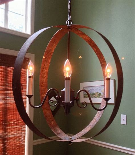Wine Barrel Ring Chandelier Whiskey Barrel Ring Chandelier Via Etsy This Light Was Made From Barrel Rings It