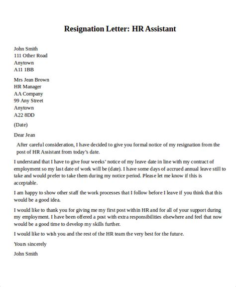 format of resignation letter to hr 31 resignation letter formats templates sle templates