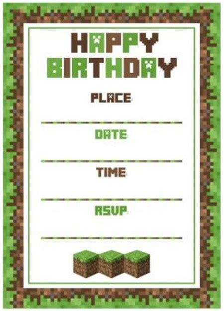 Minecraft Birthday Party Invitation Template Invitations Online Free Printable Minecraft Birthday Invitations Templates