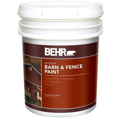 behr 5 gal exterior barn and fence paint 2505 the home depot