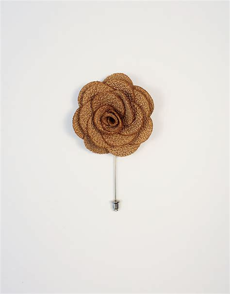 Lapel Pin Brown brown lapel flower s fashion gifts top accessory