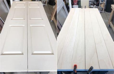 diy bifold barn door transform  closet door