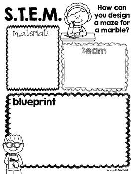 Freebie Marble Maze Stem Planning Sheet By Sharp In Second Tpt Stem Planning Template