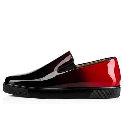 louboutins mens sneakers christian louboutin boat flat noir patent