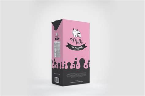 milk design psd milk packaging box mockup psd mockup planet