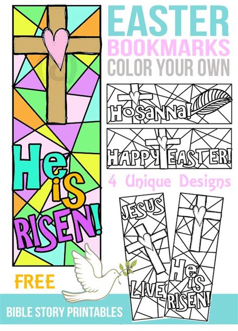 printable color your own bookmarks free color your own easter bookmarks colouring happy