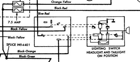 1973 mustang headlight switch wiring diagram wiring