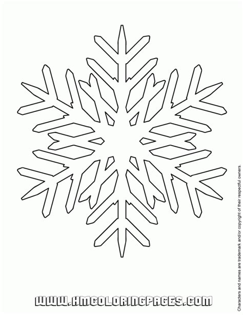 easy snowflake coloring pages simple snowflake coloring pages only with incredible