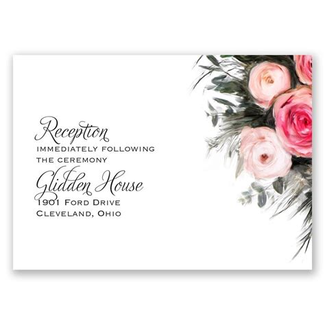 Wedding Invitation Card Reception by Ethereal Garden Reception Card Invitations By