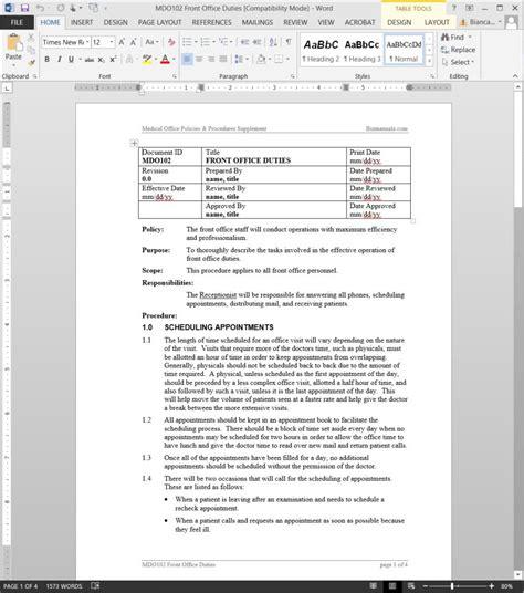 Check In Procedure In Front Desk by Front Office Duties Procedure