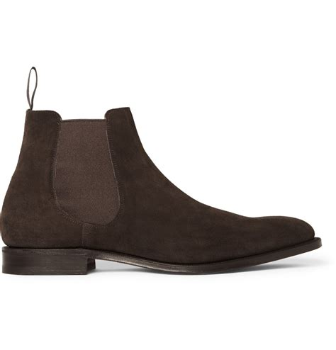 chelsea suede boots mens lyst church s beijing suede chelsea boots in brown for