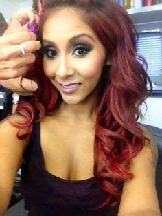 snooki cuts hair short 1000 images about burgundy red hair on pinterest