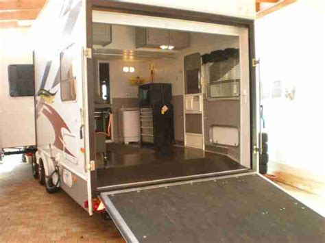 garage gebraucht wohnauflieger pkw garage 2xslideout f250 allrad