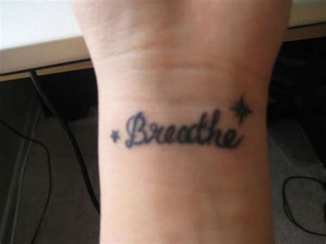 heartbeat tattoo breathe 54 elegant just breathe tattoos design on wrist