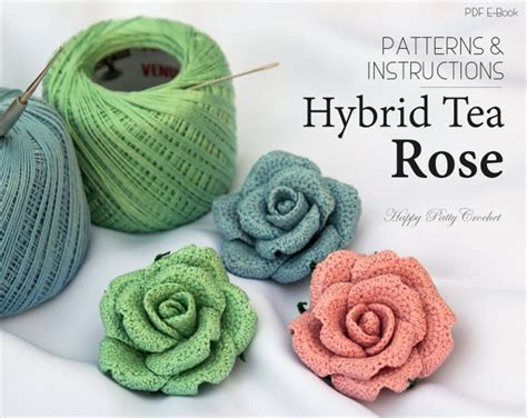 crochet pattern x crochet flower pattern crochet rose pattern by