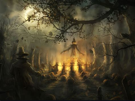my free wallpapers fantasy wallpaper halloween gathering