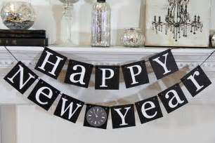 new year home decoration stylish black and white hanging words for table decoration