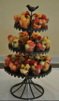 Fruit cups for a party just buy small plastic glasses and fill them