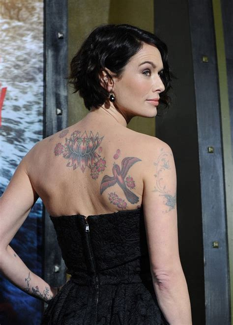 lena headey tattoo people pinterest