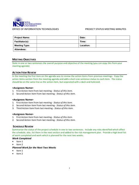 project meeting minutes template excel project meeting minutes template 9 free templates in pdf