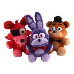 At freddy s 4 fnaf bonnie foxy freddy fazbear bear plush toys doll 10