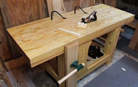 bench project carter s roubo style workbench the wood whisperer