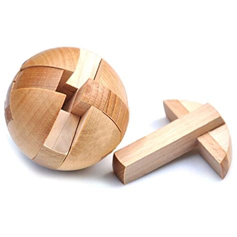 metal wooden puzzles brain teasers games for kids kingou wooden puzzle magic ball brain teasers toy