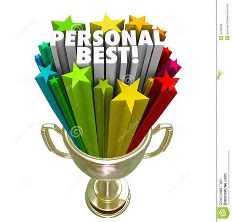 personal best personal best winner trophy pride in accomplishment stock illustration illustration of