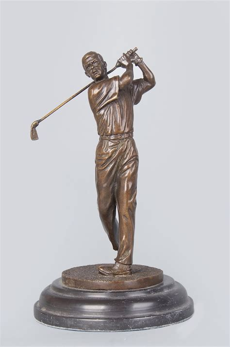 classical antique bronze sculptures figurine old man online buy wholesale golf statue from china golf statue