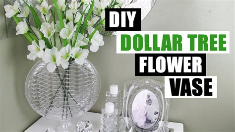 diy dollar tree glam vase dollar store diy glam flower