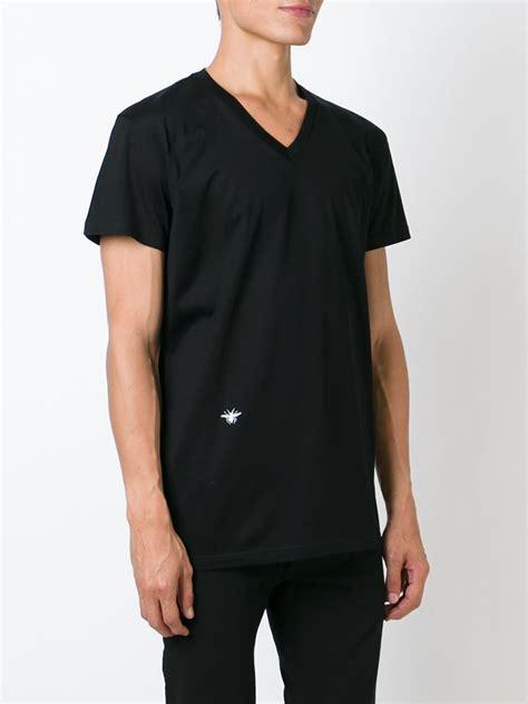 T Shirt Motif Obral 8 homme insect motif v neck t shirt in black for lyst