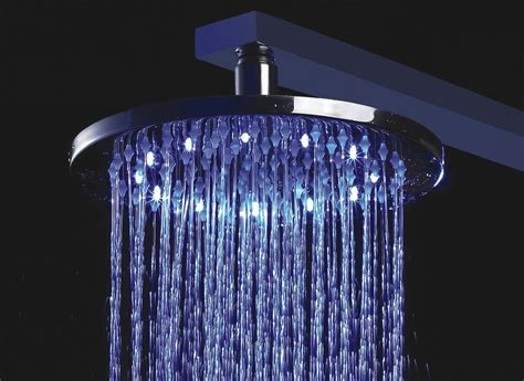 Shower Heads by Multi Color Changing Stylish Solid Brass Shower