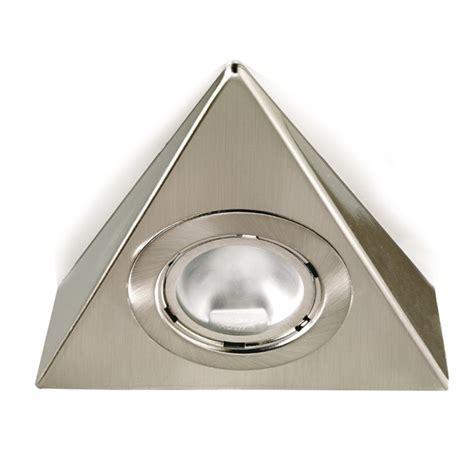 Aurora Lighting 12v G4 Pressed Steel Fixed Triangle Triangular Cabinet Kitchen Lights