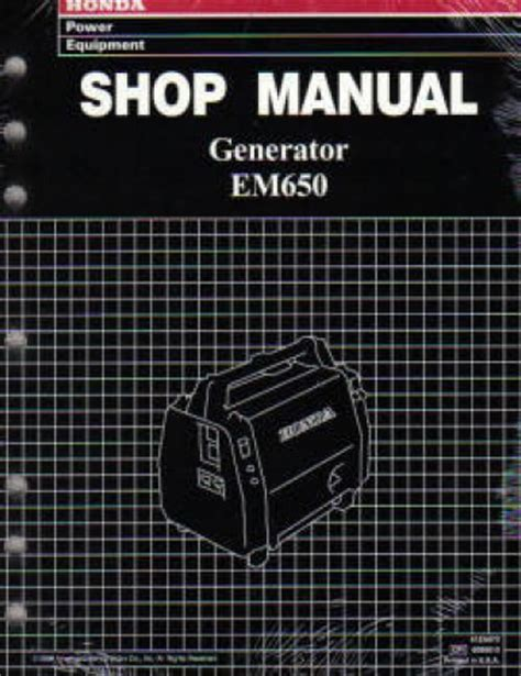 honda em650 honda em650 generator shop manual