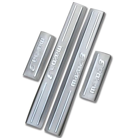 Exterior Door Threshold Plate So Cool Stainless Steel Entry Threshold Door Sill Scuff Plate 4pcs For Mazda 3 Axela 2014 2015