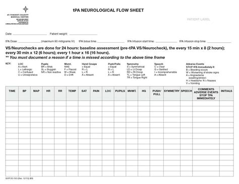 neuro template neurological flow sheet nursing home pictures to pin on