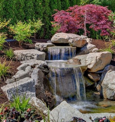 Rock Waterfalls For Gardens 53 Backyard Garden Waterfalls Pictures Of Designs Designing Idea