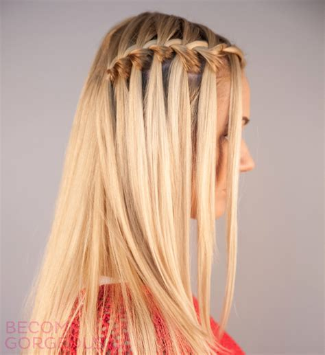 waterfalls cascade braids step by step pictures waterfall braid tutorial step by step one