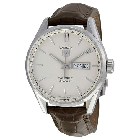 Tag Heuer Fashion Leather Brown tag heuer silver brown leather s