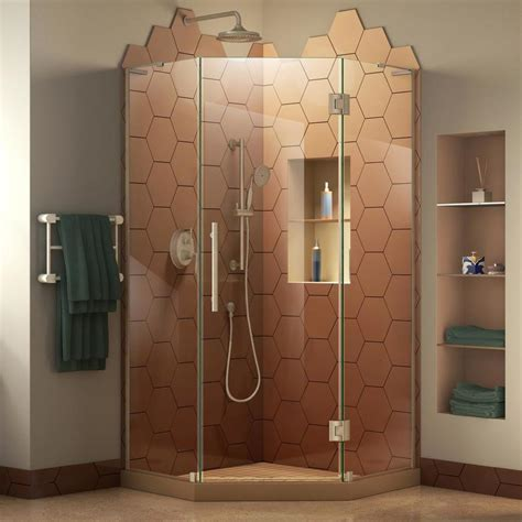 dreamline shower door installation shop dreamline prism plus frameless nickel shower door at