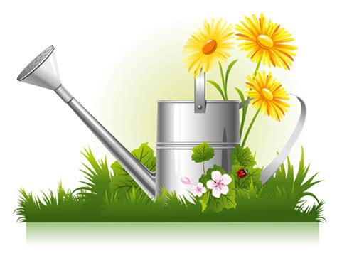 Gardening Vector Garden Watering Design Vector Graphics 01 Vector Flower