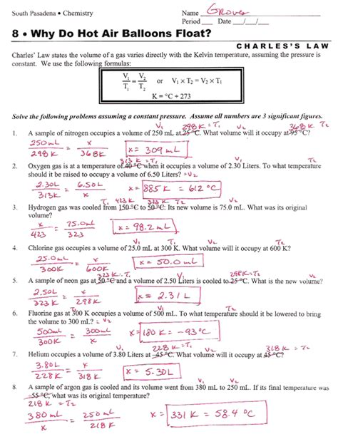 Chemistry Gas Laws Worksheet Answers by Gas Laws Worksheet Worksheets