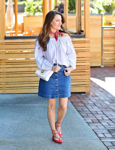 denim skirt idea in a pod