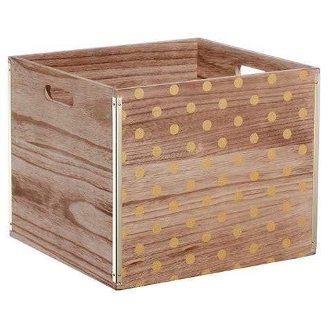 target crates wood large milk crate gold dot room essentials target