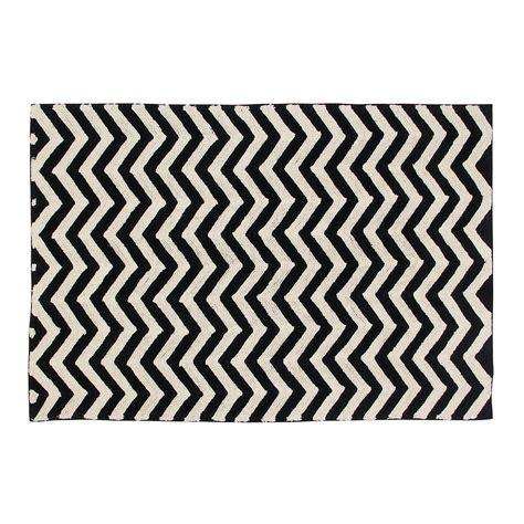black and white zigzag rug canals zig zag washable rug rugs cuckooland