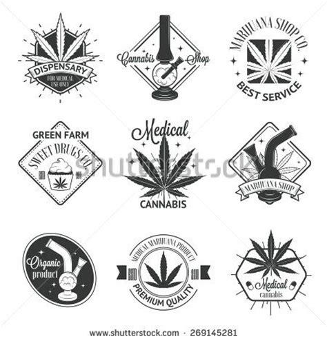 set of medical marijuana logos cannabis badges labels