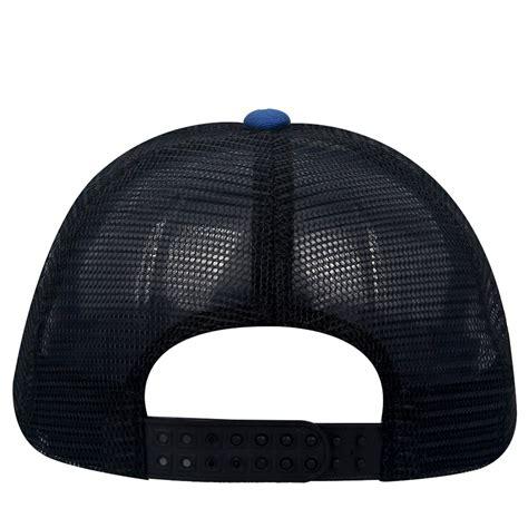 Topi Baseball Snapback Mesh Black unisex baseball cap black blue plain trucker mesh hat adjustable snapback hats