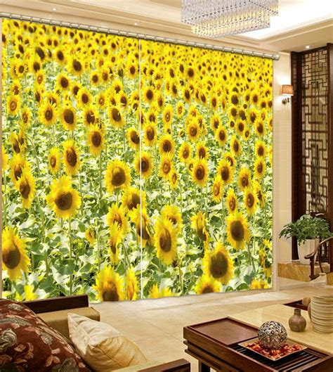 get cheap sunflower kitchen curtains aliexpress