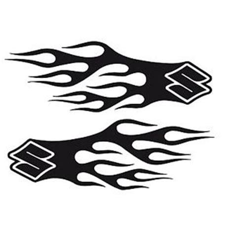 Suzuki Bike Stickers Bike Chopper Gas Tank Flames Tribal Vinyl Decal Sticker